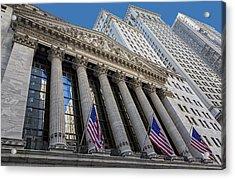 New York Stock Exchange Wall Street Nyse  Acrylic Print