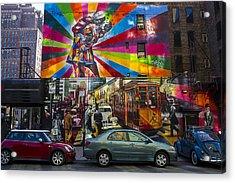 New York Street Scene Acrylic Print by Garry Gay