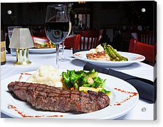 New York Strip Steak With Mashed Potatoes And Mixed Vegetables 4 Acrylic Print by Erin Cadigan