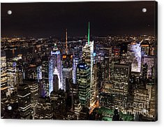 New York Times Square Acrylic Print by Matt Malloy
