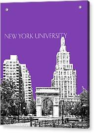 New York University - Washington Square Park - Purple Acrylic Print by DB Artist