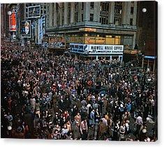 New York: V-e Day, 1945 Acrylic Print by Granger