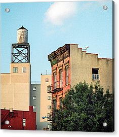 Acrylic Print featuring the photograph New York Water Tower 3 by Gary Heller