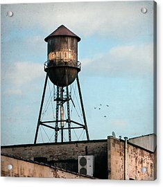 New York Water Tower 7 Acrylic Print by Gary Heller