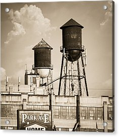 New York Water Tower 8 - Williamsburg Brooklyn Acrylic Print