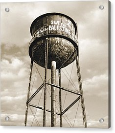 Acrylic Print featuring the photograph New York Water Towers 11 - Greenpoint Brooklyn by Gary Heller