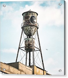 Acrylic Print featuring the photograph New York Water Towers 9 - Bed Stuy Brooklyn by Gary Heller