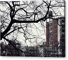 New York Winter Day 2 Acrylic Print by Sarah Loft