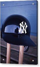 New York Yankees Batting Helmet Acrylic Print by Retro Images Archive