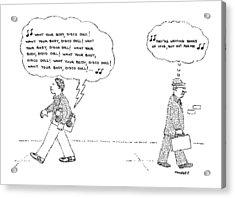 New Yorker April 14th, 1980 Acrylic Print