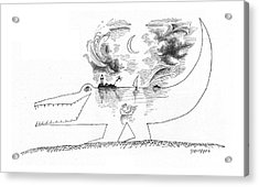 New Yorker April 21st, 1962 Acrylic Print by Saul Steinberg