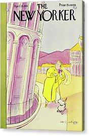 New Yorker April 25 1931 Acrylic Print by Helene E. Hokinson