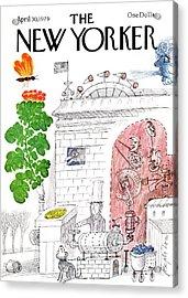 New Yorker April 30th, 1979 Acrylic Print by Joseph Low