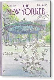 New Yorker April 6th, 1987 Acrylic Print
