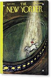 New Yorker April 7th 1962 Acrylic Print by Aaron Birnbaum