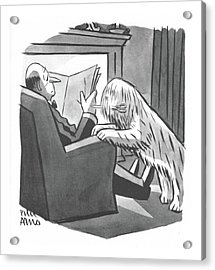 New Yorker April 8th, 1944 Acrylic Print by Peter Arno