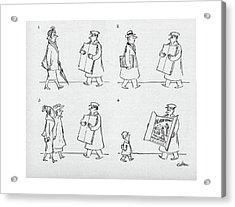 New Yorker April 9th, 1949 Acrylic Print by Sam Cobean