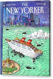 New Yorker April 9th, 1990 Acrylic Print