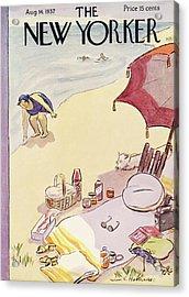 New Yorker August 14th, 1937 Acrylic Print by Helen E. Hokinson