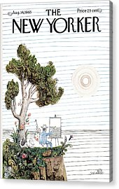 New Yorker August 14th, 1965 Acrylic Print by Saul Steinberg
