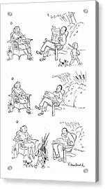 New Yorker August 19th, 1944 Acrylic Print by Roberta Macdonald