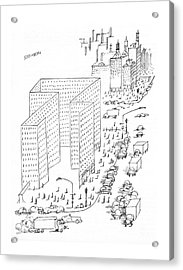 New Yorker August 21st, 1965 Acrylic Print by Saul Steinberg