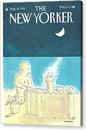 New Yorker August 26th, 1991 Acrylic Print by Robert Mankoff
