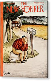 New Yorker August 29th, 1936 Acrylic Print by William Steig