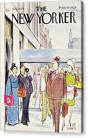 New Yorker August 5th, 1974 Acrylic Print by Charles Saxon