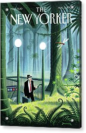 New Yorker August 5th, 2002 Acrylic Print by Eric Drooker