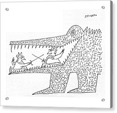 New Yorker December 10th, 1960 Acrylic Print by Saul Steinberg