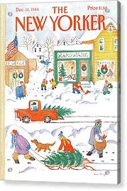 New Yorker December 10th, 1984 Acrylic Print