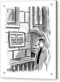 New Yorker December 14th, 1987 Acrylic Print by Warren Miller
