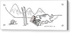 New Yorker December 15th, 1997 Acrylic Print by Bill Woodman