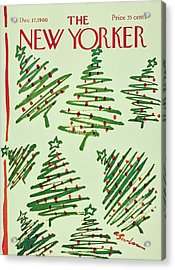 New Yorker December 17th 1966 Acrylic Print by Aaron Birnbaum