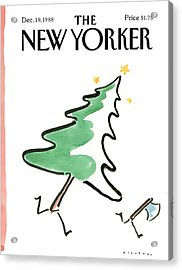New Yorker December 19th, 1988 Acrylic Print
