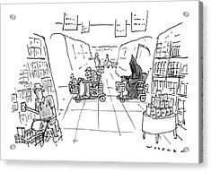 New Yorker December 1st, 1997 Acrylic Print by Bill Woodman