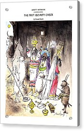 New Yorker December 21st, 1992 Acrylic Print by Ronald Searle