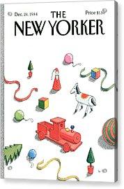 New Yorker December 24th, 1984 Acrylic Print