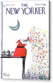 New Yorker December 25th, 1971 Acrylic Print