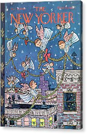 New Yorker December 26th, 1964 Acrylic Print by William Steig