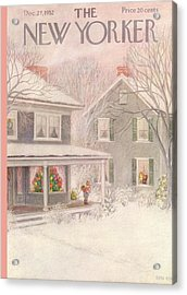 New Yorker December 27th, 1952 Acrylic Print by Edna Eicke