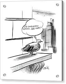 New Yorker December 28th, 1987 Acrylic Print