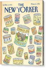 New Yorker December 2nd, 1991 Acrylic Print