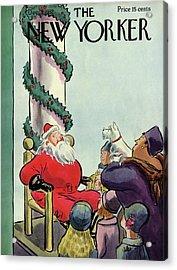 New Yorker December 3rd, 1932 Acrylic Print by Helen E. Hokinson