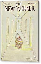 New Yorker December 5th 1977 Acrylic Print by Eugene Mihaesco