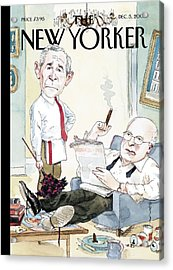 New Yorker December 5th, 2005 Acrylic Print by Barry Blitt
