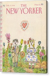 New Yorker February 13th, 1984 Acrylic Print by William Steig