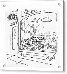 New Yorker February 15th, 1982 Acrylic Print by Sidney Harris