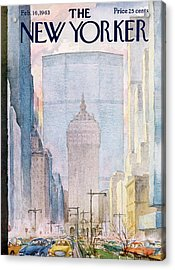 New Yorker February 16th, 1963 Acrylic Print by Alan Dunn